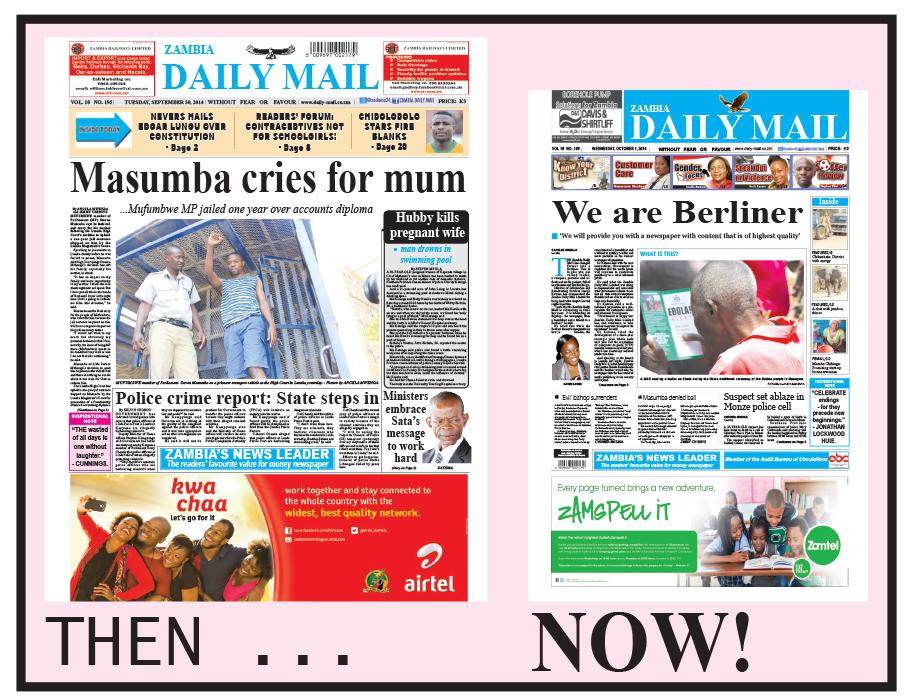 Zambia Daily Mail rebrands – Zambia Daily Mail