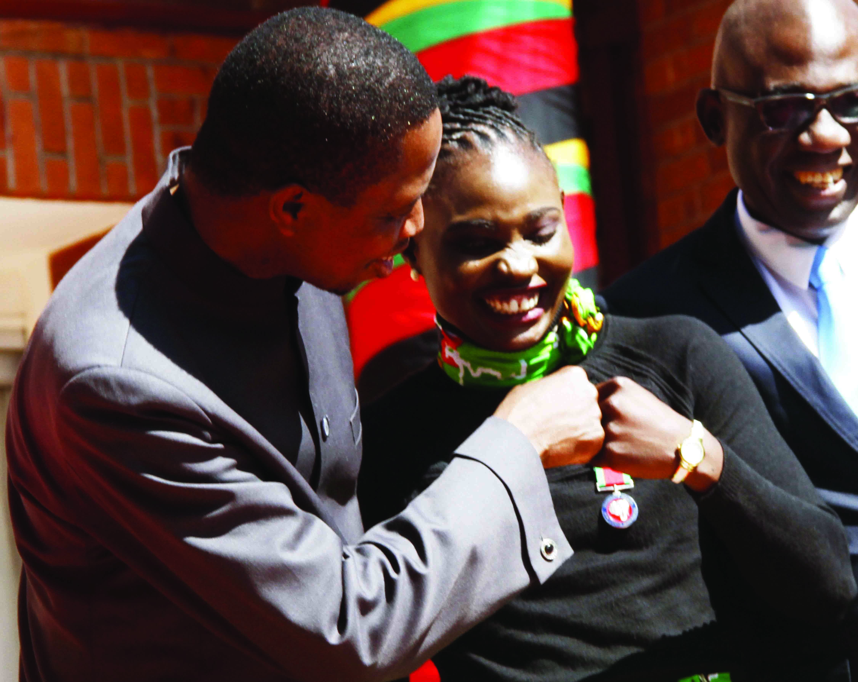 President Lungu honours under-20 team, Catherine Phiri