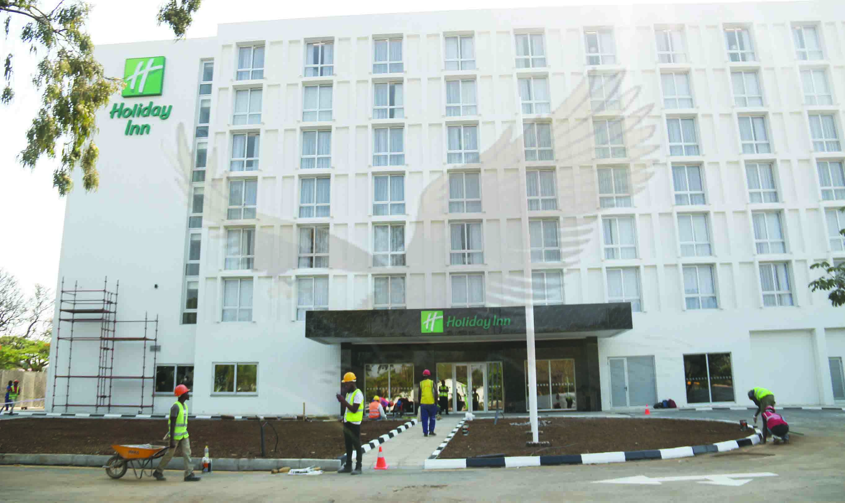 Doors open for customers at Holiday Inn